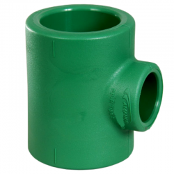 Tee Fusión 50 Mm Reducción Verde Normal Amanco